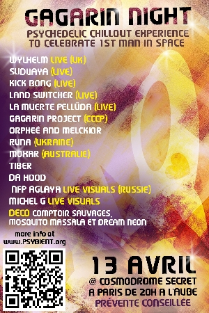 [event] Gagarin's Night (psychedelic chillout experience) Paris