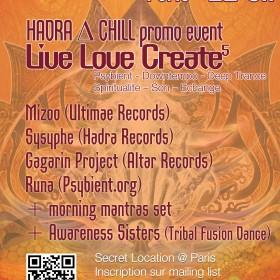 [event] LIVE LOVE CREATE 5 (LLC+Hadra∆Chill) @ PARIS