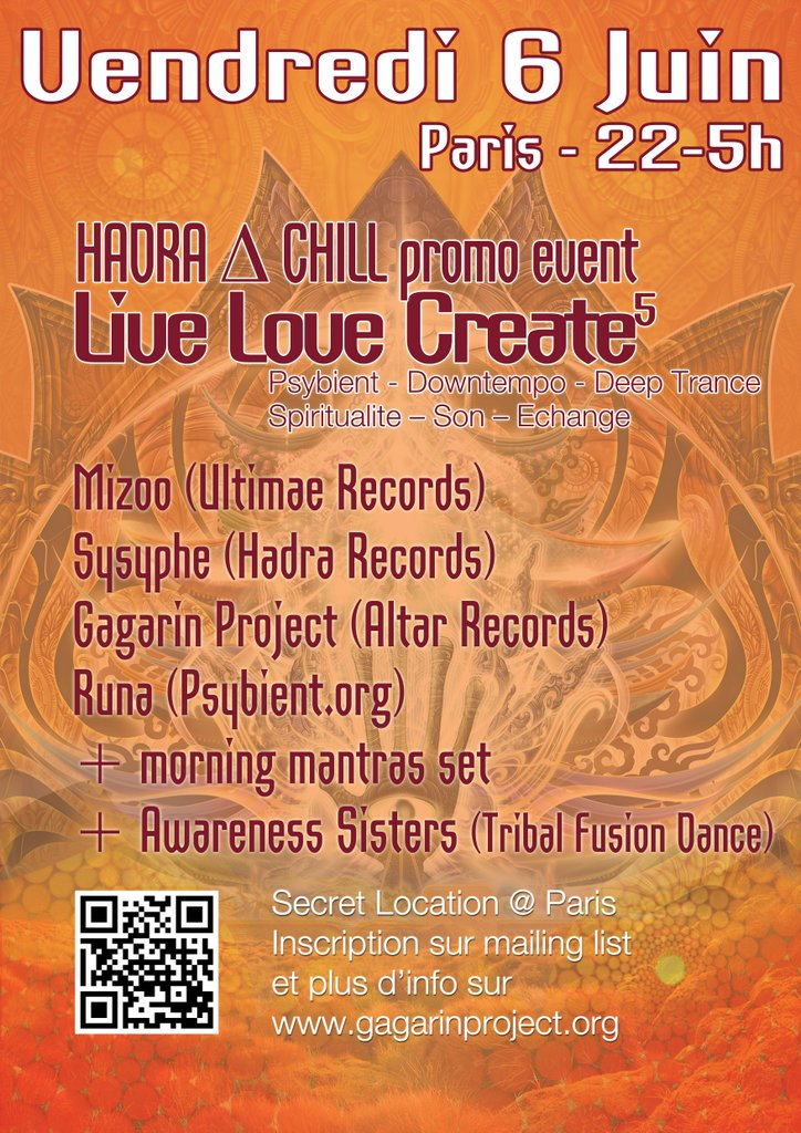 [event] LIVE LOVE CREATE 5 (LLC+Hadra∆Chill) @ PARIS