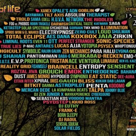 Johnny Blue @ Tree Of Life Festival 2013 (Lake Stage psychill Dj mix)