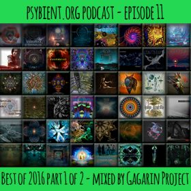 psybient.org podcast – episode 11 – Best of 2016 part 1 of 2 mixed by Gagarin Project