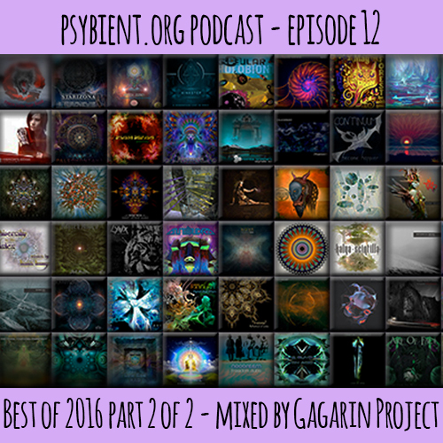 psybient.org podcast – episode 12 – Best of 2016 part 2 of 2 mixed by Gagarin Project
