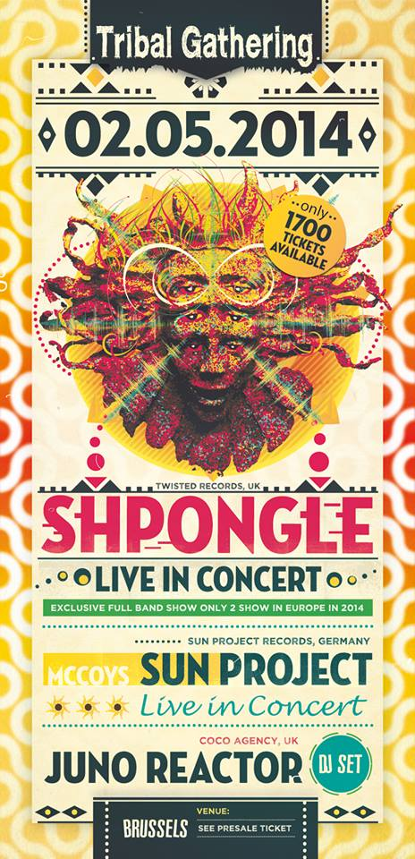 [event] Shpongle (live concert) & Juno Reactor @ Brussels